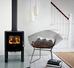 modern wood burning stove