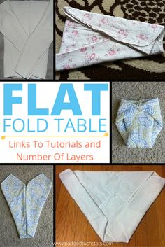 Flats are great for use on babies of all ages (newborn to toddler!) but the initial learning curve with folding them can be intimidating. Use our Table Of Flat Folds And Tutorials to find the best way to fold a flat cloth diaper or flour sack towel for your little boy or girl (based on how many layers the fold produces and where the most layers are located!). #clothdiaper #clothdiapers