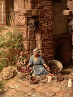 belenistas de la Isla. Fotos Christmas Tree Themes, Christmas Traditions, Christmas Crafts, Fontanini Nativity, Antique Booth Displays, Medieval Houses, Modelos 3d, Victorian Christmas, Miniature Houses