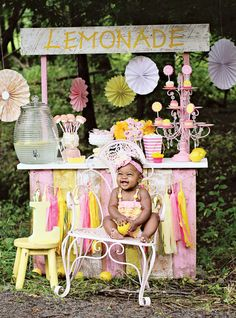 Girly & SWEET Pink Lemonade Stand - Hostess with the Mostess™