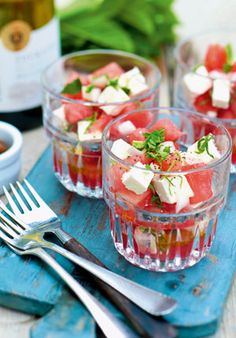 Gall & Gall Recepten | Watermeloensalade met feta en munt | &Bijpassende Wijn | www.Gall.nl
