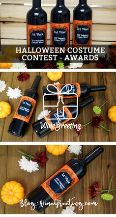 Personalized Wine Bottles Personalized Wine Label Halloween Wine Gift Costume Contest