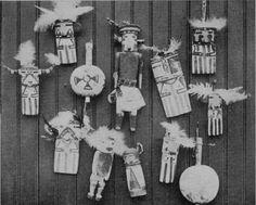 Hopi Bahos y Danza traqueteos.