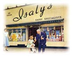 """Starting in the early 1930s, Isaly's deli and dairy products were sold exclusively in Isaly's own chain of bright, white-tiled stores with """"Isaly's"""" written large above the doors."""