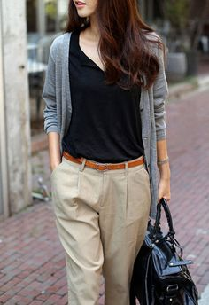 Neutrals. Not sure about the pleating on the pants though