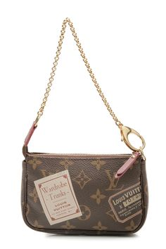 Louis Vuitton Monogram Canvas Stamp Mini Pochette Accessories Bag