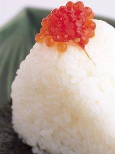 Salmon Roe Topped Onigiri (Rice Ball) -  Japanese Food