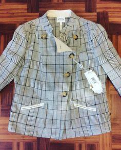 #ArmaniCollezioni #Blazer #Jacket #NWT | Size 10 | Retail $1025 | Our Price $510! Call for more info (781)449-2500. #FreeShipping #ShopConsignment  #ClosetExchangeNeedham #ShopLocal #DesignerDeals #Resale #Luxury #Thrift #Fashionista