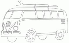 Vw Van By Bird Coloring This For My Dads Bday Card