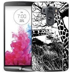 LG G3 Black and White Giraffes Slim Case