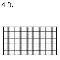 FORGERIGHT Deco Grid 4 ft. x 6 ft. Black Steel Fence Panel