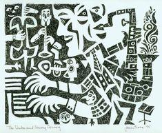 Jim Flora drawing of Duke Ellington and Harry Carney