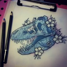 T Rex tattoo design