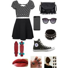 """""""Skating Outfit Specifically for pennyboards"""" by fashionsplat on Polyvore"""