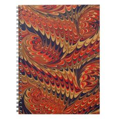 #Victorian Feather Boho Bohemian Abstract Pattern Notebook - #office #gifts #giftideas #business