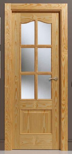 PUERTA Door Design Interior, Wood Doors, Entrance Doors, Wooden Main Door Design, Door Glass Design, Glass Design, Door Molding, Hollow Metal Doors, Sliding Door Design