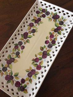 Swiss roll plate by Angela Davies