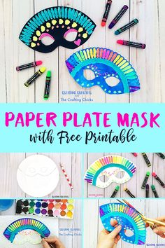 Tips For Just A Second Wedding Ceremony Anniversary Reward Paper Plate Mask With Free Printable This Paper Plate Mask Is A Simple Yet Super Fun Mask, Perfect To Get Those Amazing Little Imaginations Warmed Up And Ready For Some Imaginary Play. Arts And Crafts For Teens, Art And Craft Videos, Easy Arts And Crafts, Fun Crafts For Kids, Toddler Crafts, Art For Kids, Kid Art, Crafts For Camp, Simple Paper Crafts