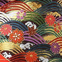 着物の伝統柄(柄の意味・種類)。着物の柄の中から代表的なものをご紹介。結婚式着物レンタル専門【THE KIMONO SHOP−ザ・キモノショップ】 青海波文/せいがいはもん