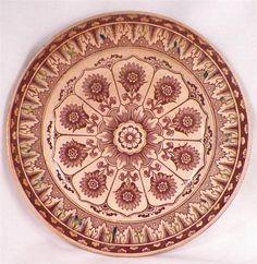 Antique Brown Transferware Plate Cyprus Pattern Brownfield Oxidation As Is #AestheticMovement #TWalker