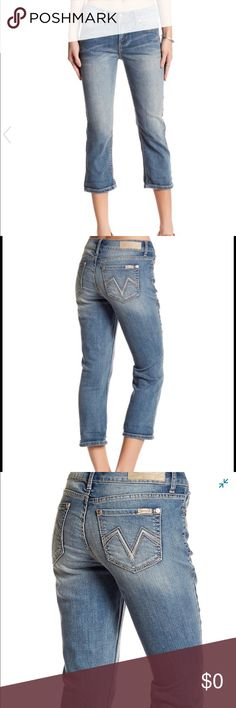 Seven7 Cuffed Crop Jeans Super cute cropped jeans! Wear rolled or unrolled. 72% Cotton, 19% Polyester, 8% Rayon, 1% Spandex Seven7 Jeans Ankle & Cropped