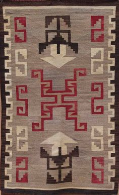 Early Storm pattern Navajo rug.