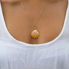 Sunrise Shell Necklace Hawaiian Shell jewelry by HanaMauiCreations, $130.00