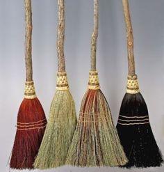 broomchicks handmade organic brooms .. love the multi colored one!