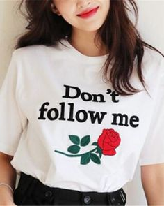 afaecb483 2017 Fashion Loose Black Summer Tops Letters Embroidery Roses T Shirt Women  Short Sleeve T-shirt White Long Shirt Female