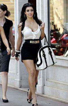 Kim Kardashian wearing Christian Louboutin Very Prive Pumps in Pony Hair Moschino Belt. Kim Kardashian Out in Monaco June 10 Kim Kardashian 2008, Kardashian Style, Kardashian Jenner, Kardashian Fashion, Moschino Belt, Indian Beauty Saree, Favim, Classy Women, Fashion Outfits