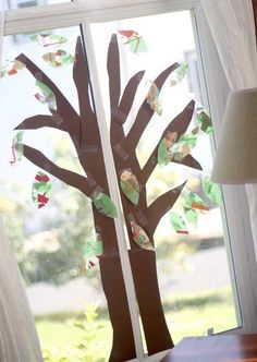 A fall tree craft for the window