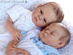 Precious reborn Aëline ,one of twin babies preemies PROTOTYPES from Betty Morel   eBay