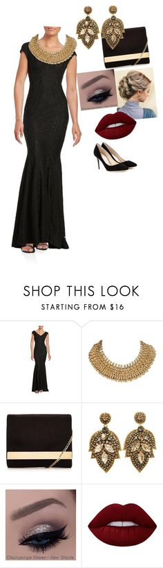 """""""Opera night"""" by akankshakriplani ❤ liked on Polyvore featuring Betsy & Adam, Lime Crime and Jimmy Choo"""
