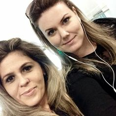 Eu e Jênnifer rumo a Buenos Aires curso Kryolan