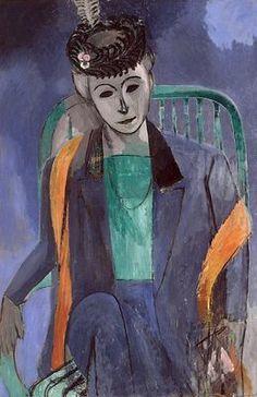 Femme de l'artiste,  Huile sur toile 146 x 97,7 cm  1913 Musée de l'Ermitage, Saint-Petersbourg, Russie