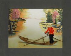 Tranh giấy xoắn kích thước 20cm x 25cm (Code: A59). Quilling painting dimension 20cm x 25cm (Code: A59). http://shopmynghe.com/detail2.php?id=2872