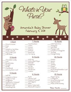 Game forest-baby-shower-theme