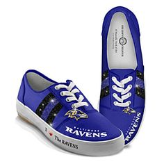 NFL-Licensed Baltimore Ravens Women's Canvas Sneakers