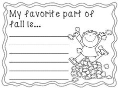 Writing Activities and More: September, October, & November~K to ...