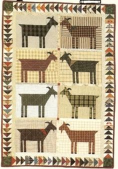 Goat quilt. Country Threads :: Animal Quilt Patterns :: Louise & Friends Quilt Pattern