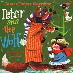 Vintage Peter and The Wolf album classical album artwork