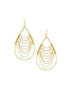 Y2U5H Nakamol Golden Dripping Chain Teardrop Earrings