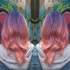 Purple to coral colour melt!