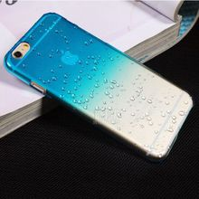 Ultra-thin Creatively 3D rain drop water raindrop hard back cover semi-transparent colorful phone case for iphone 6 PT2150(China (Mainland))