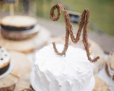Rustic Wedding Cake Topper Personalized by RusticDesignsByAmie Rustic Wedding Cake Toppers, Personalized Wedding Cake Toppers, Wedding Cakes, Dream Wedding, Wedding 2015, Wedding Stuff, Flower Decorations, Wedding Decorations, Letter Cake Toppers