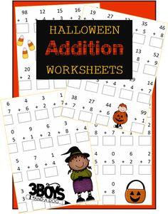 Halloween Printables: Addition Worksheets