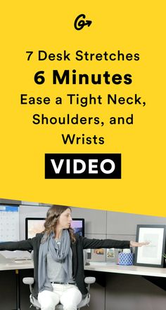 Don't let your desk be an occupational hazard.  #greatist https://greatist.com/move/desk-stretches-7-yoga-moves-you-can-do-at-the-office