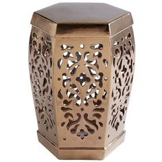Crafted of heavy earthenware and intricately carved, this dazzling Chinese stool can be used indoors or out, as an accent table or extra seat. But its true purpose is to shine like a precious jewel in a lush courtyard garden. Or, you know, motivate you to plant one.