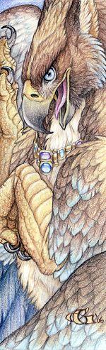 Topaz Gryphon by Goldenwolf.deviantart.com on @deviantART