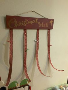 Christmas Card/Mail holder $30